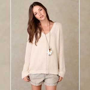 Free People Sweaters - Free People Centered V Neck Pullover